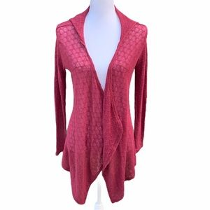 Volcom Open Front Cardigan Size XS Dark Red